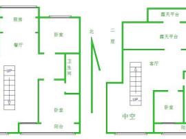 240平方米大跃层 赠送地下室 空中花园 首付100万 性价比高